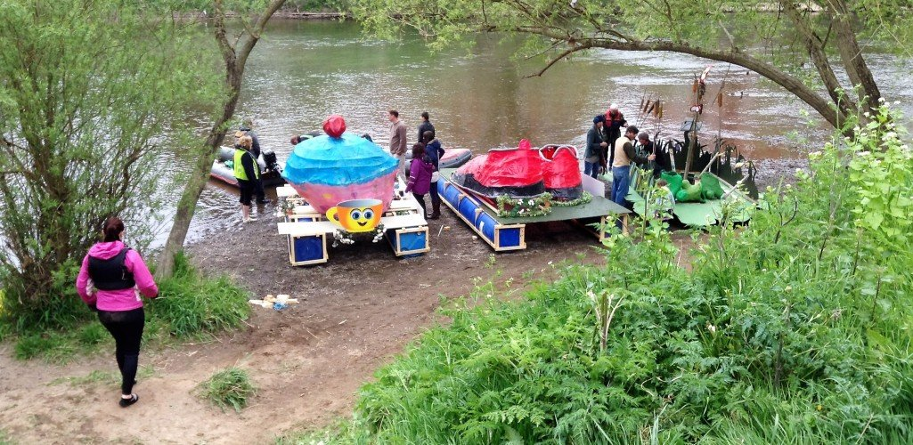 Horizon Training students floats ready to enter the Hereford River Carnival
