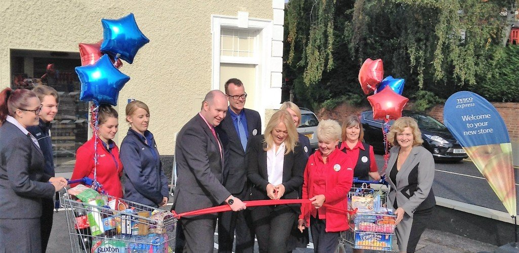 The opening of the new Tesco Express